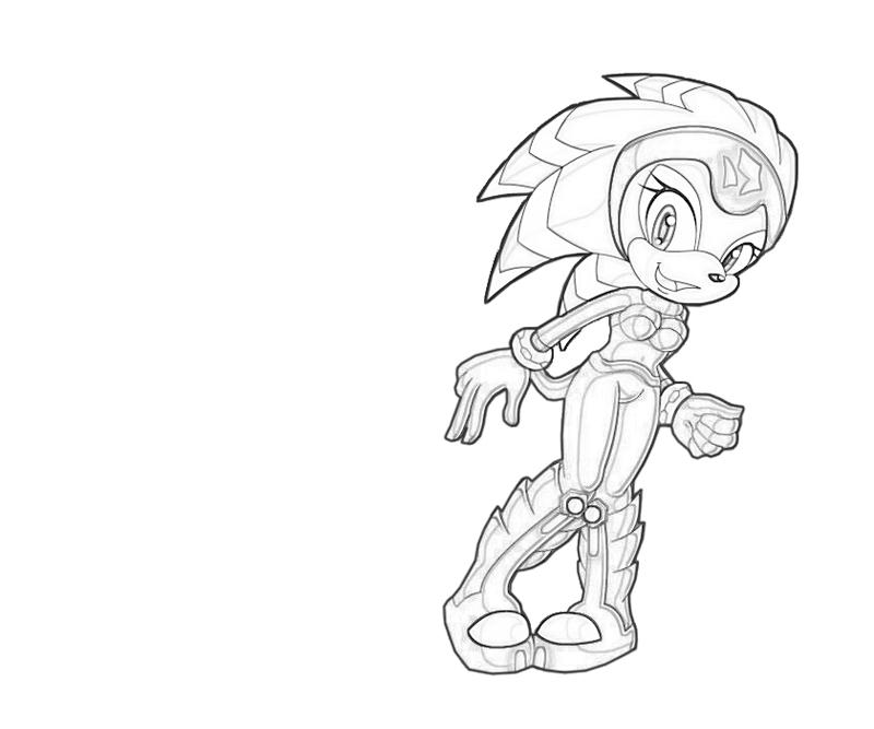 Knuckles the echidna coloring pages