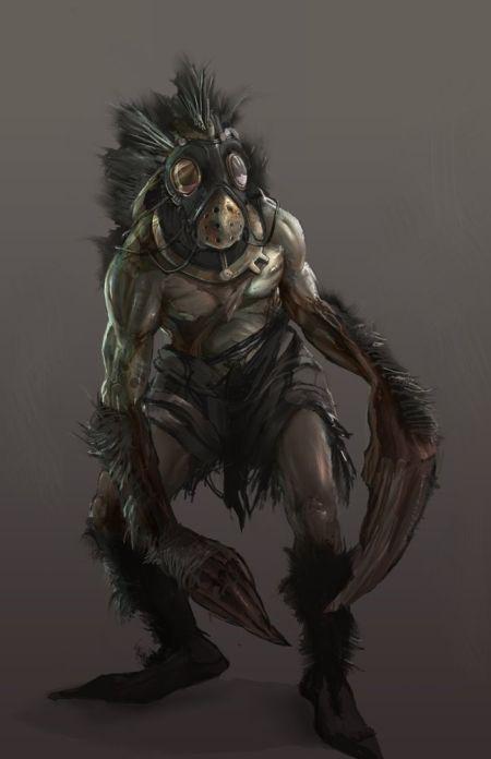 Brenoch Adams ilustrações fantasia ficção Criatura