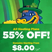 St. Patty's Day Sale: 55% Off Hosting + $8 Domains! by Hostgator