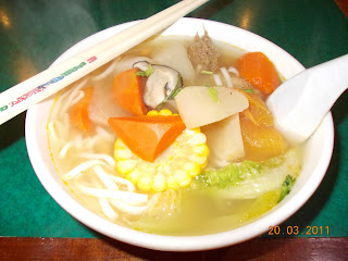 Tomatoes Carrot Soup Noodles, S$ 5.00