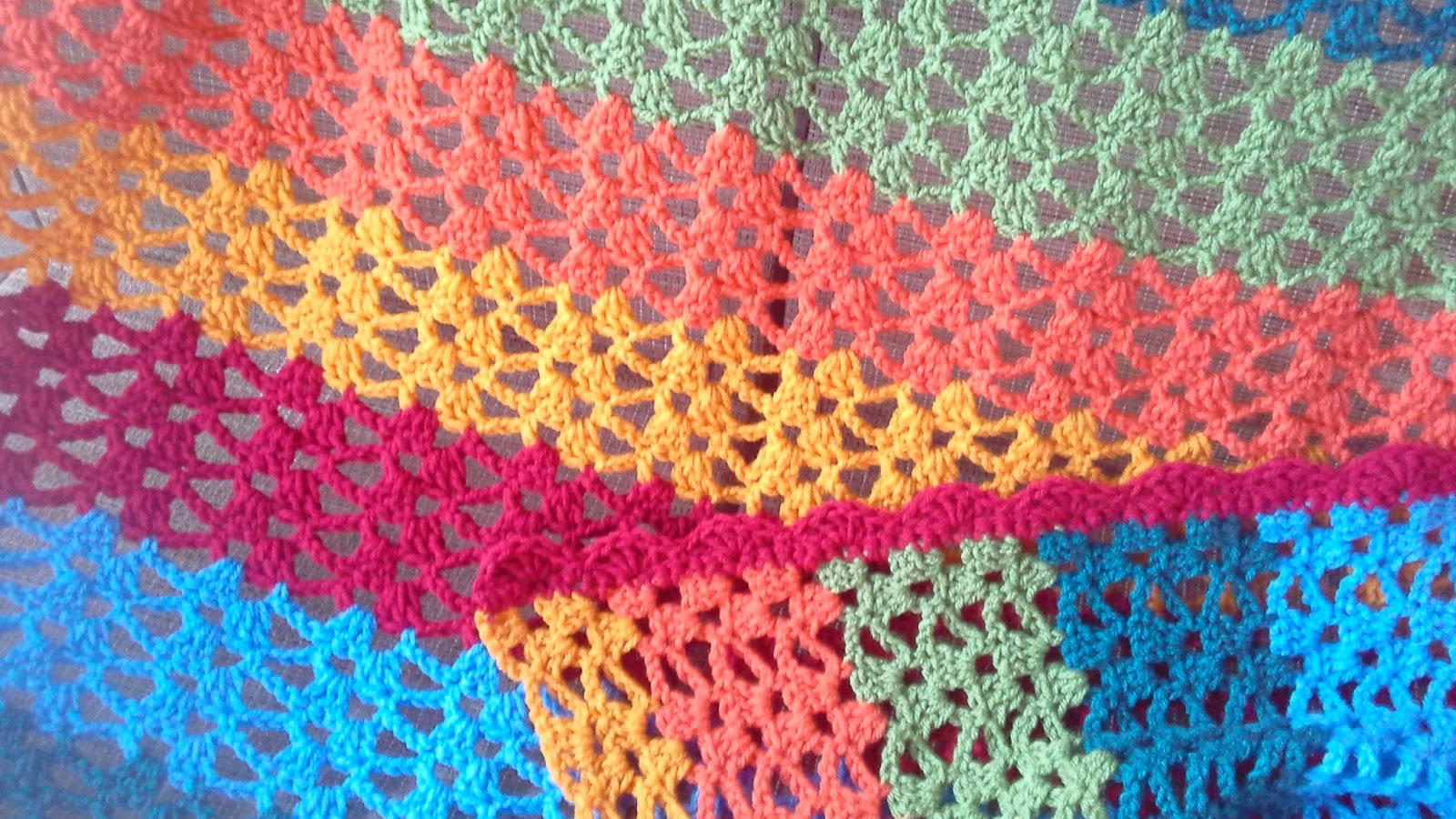 Tw In Stitches Lacy Trellis Blanket Free Pattern