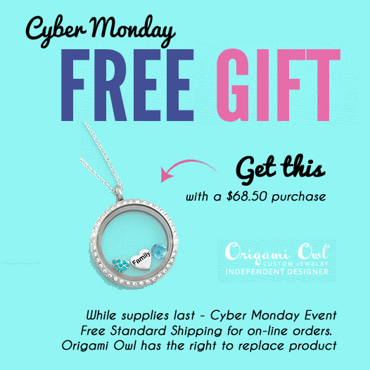 Origami Owl FREE GIFT for Cyber Monday | Shop StoriedCharms.com