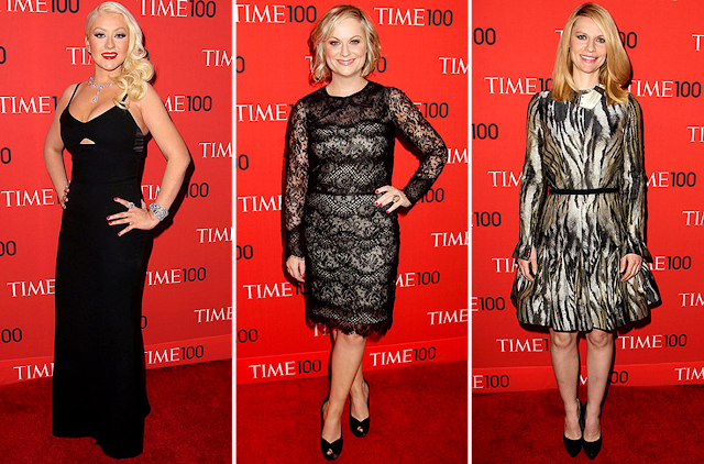 Time 100 Gala, red carpet, fashion, Christina Aguilera, Amy Poehler, Claire Danes
