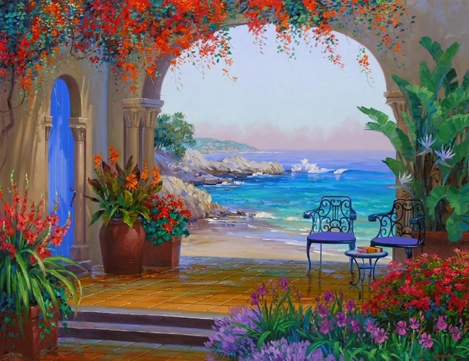 Cuadros modernos pinturas y dibujos galeria flores y - Cuadros muy bonitos ...