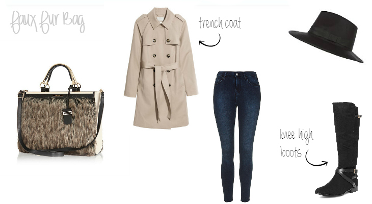 How to wear a faux fur bag