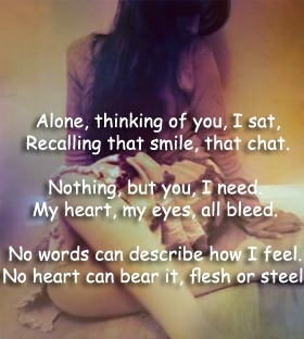 Breakup love poems