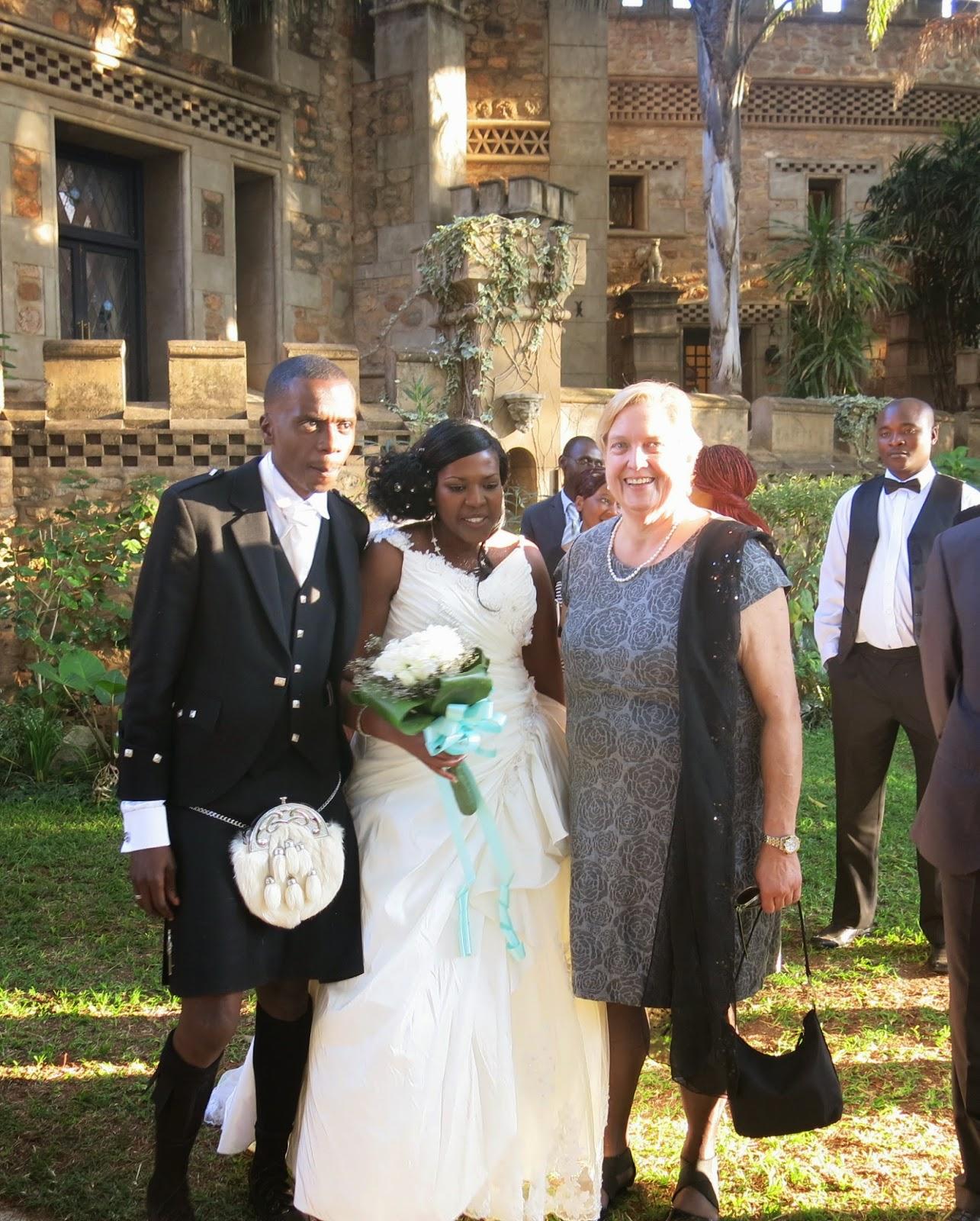 African scottish wedding