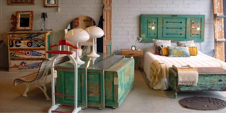 Decorando con muebles de segunda mano muebles y m s - Muebles decorados a mano ...