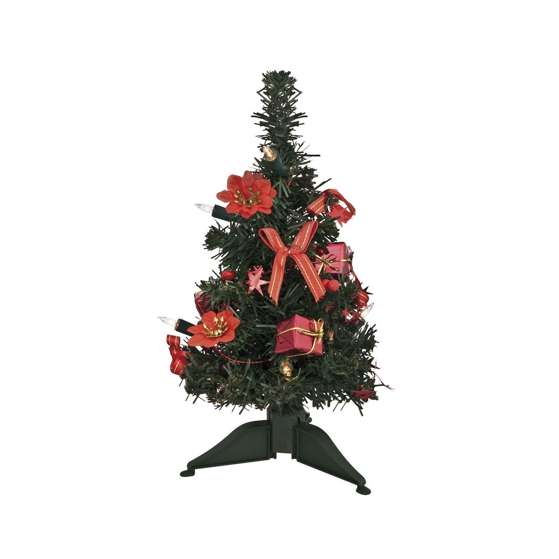 weihnachtsb ume sonstiges mini weihnachtsbaum 30cm komplett geschm ckt mit lichterkette. Black Bedroom Furniture Sets. Home Design Ideas