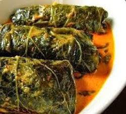 resep praktis dan mudah membuat (memasak) masakan khas buntil daun talas spesial enak, lezat