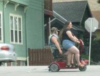 Smešne slike: skuter za debele ljude