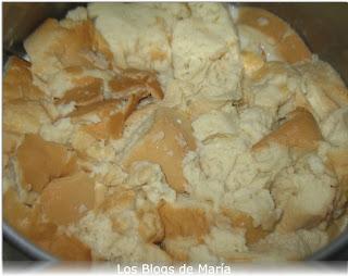 Puding de nueces con queso philadelfia