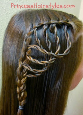 """Folded Feather Braid"" with rope braids tutorial"