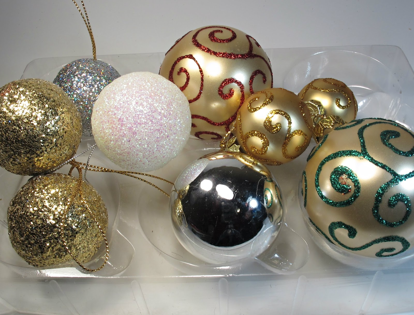 upcycled ornaments