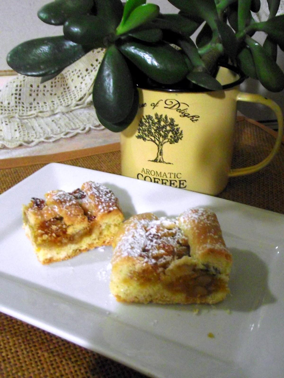 crostata arance,cannella e noci e la storia di lucida mansi