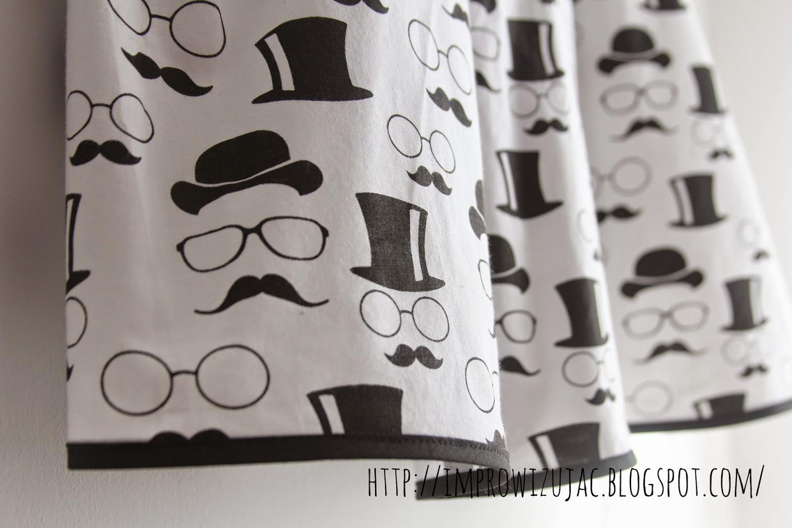 spódnica czarno-biała
