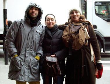 De mañana (mucho frío!) de camino al teatro