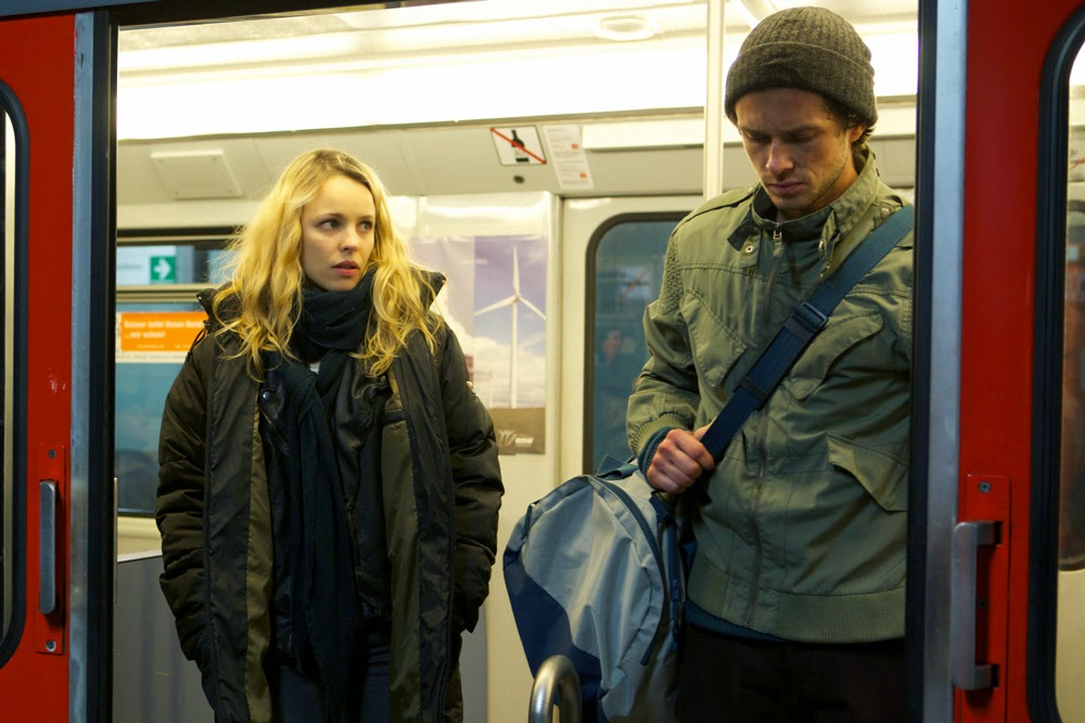 Rachel McAdams and Grigoriy Dobrygin in A Most Wanted Man