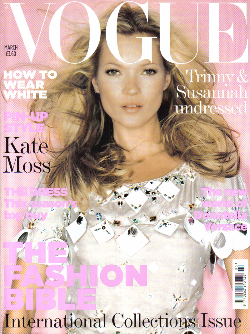 Kate Moss wearing Louis Vuitton Spring/Summer 2006 photographed by Nick Knight for Vogue UK March 2006 via fashioned by love british fashion blog