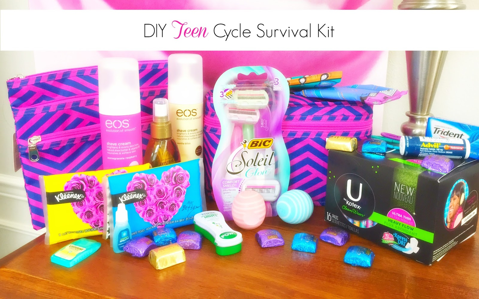 Diy Teen Girl Cycle Survival Kit Studying Swimming With Periods