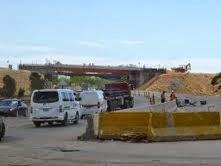 Marchan a ritmo acelerados los trabajos de construcción de los tres puentes a desnivel en la Autovía del Este