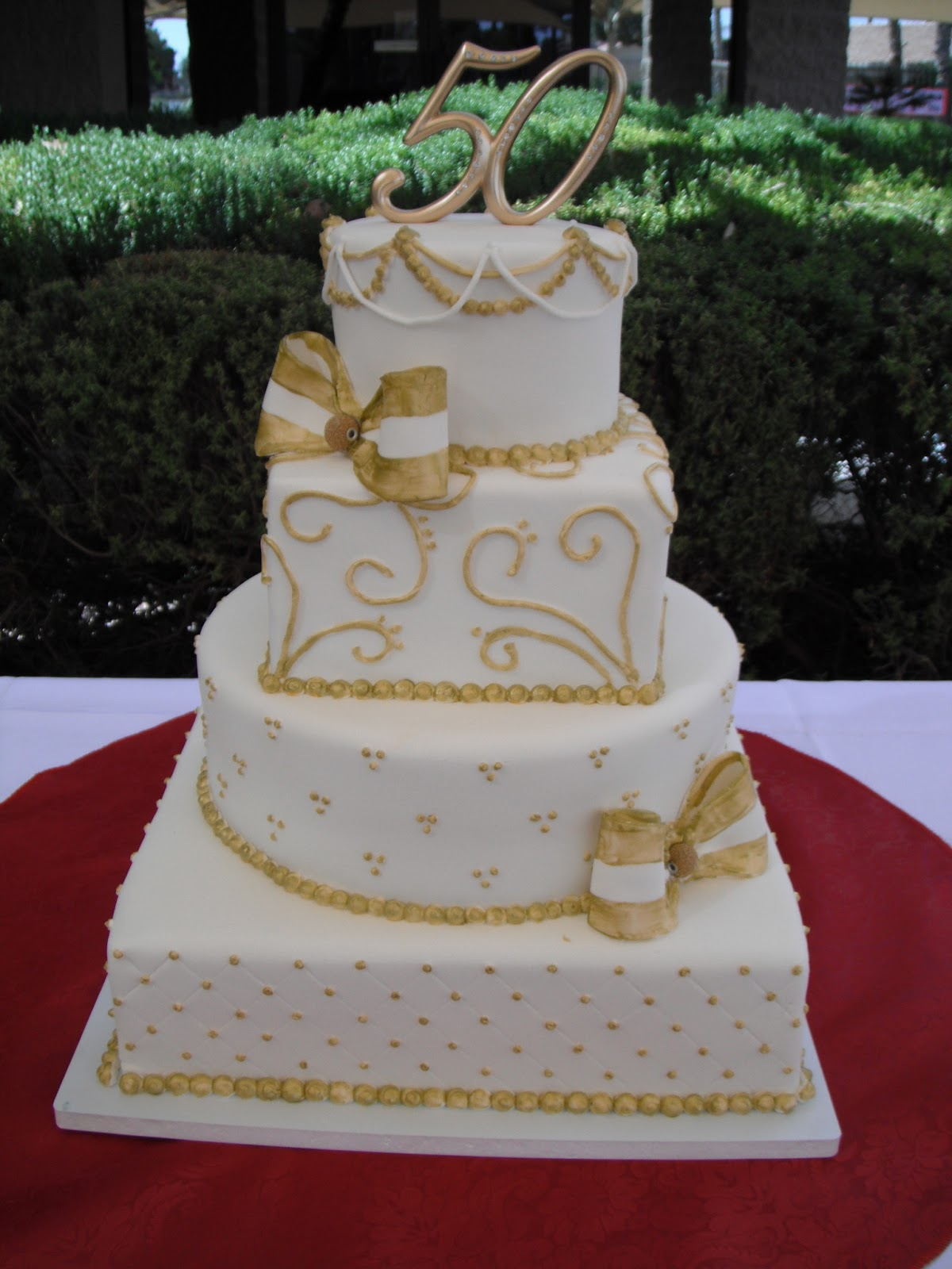 675px for 50th wedding anniversary cake decoration ideas