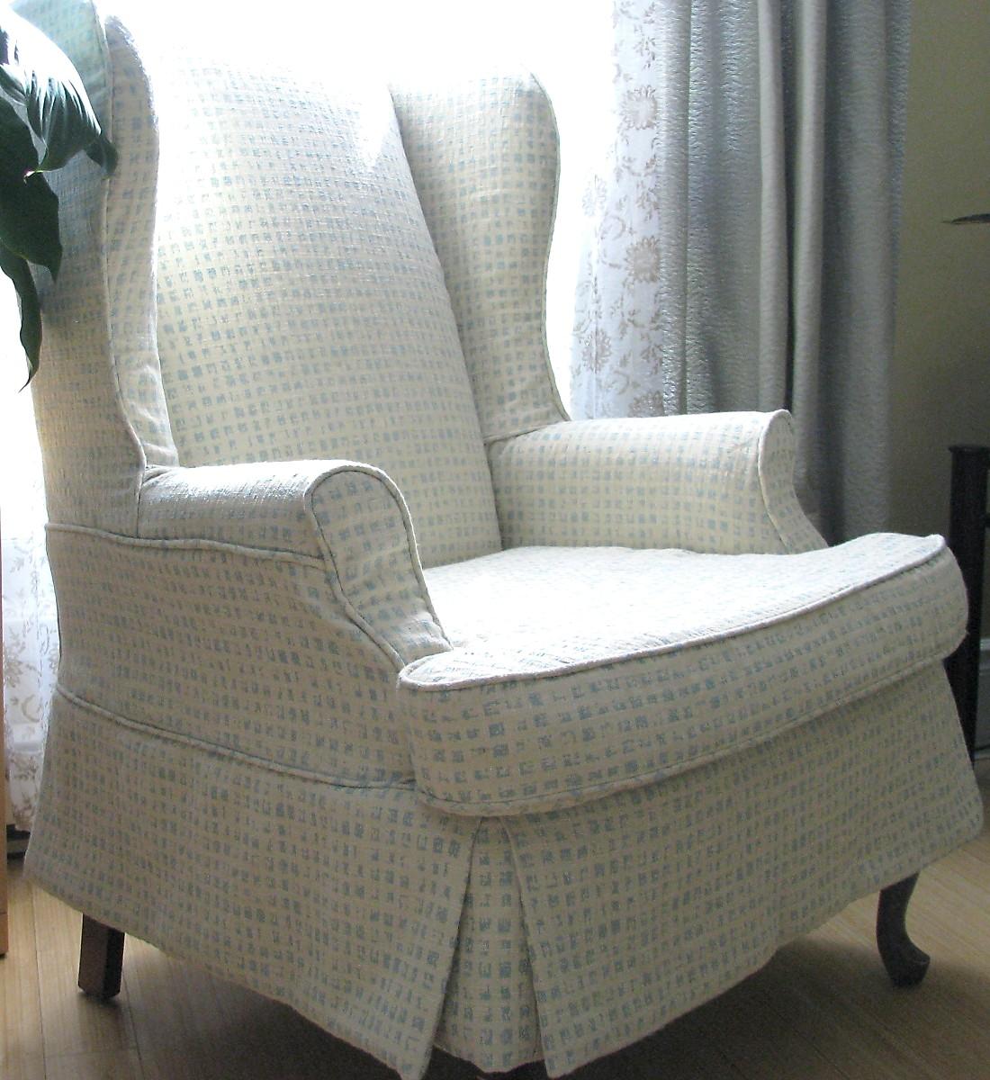 Merveilleux Wingback Chair Slipcover