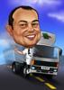 Truck Driver Caricature
