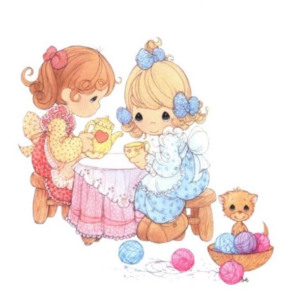 ninas jugando para imprimir dibujos de ninas de preciosos momentos