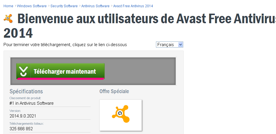 Profiter de l'Antivirus Avast 2014 Avec une Licence Gratuite d'une Année