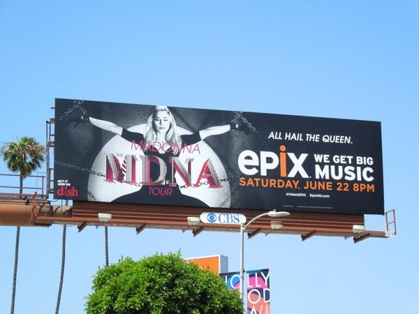 Madonna MDNA Tour Epix billboard