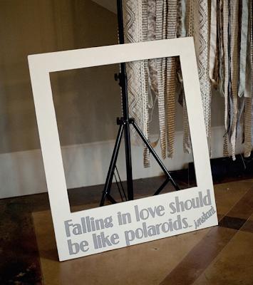 The Cucumber Bride Blog: Polaroid Photobooth Prop