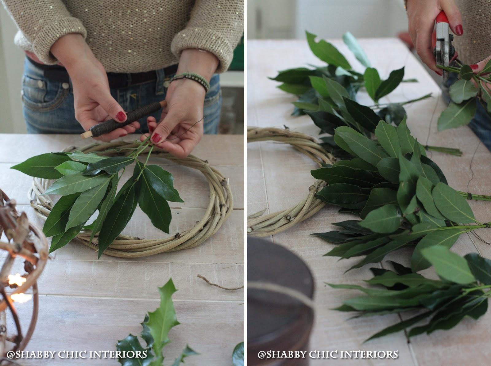 Conosciuto Tutorial ghirlanda di Natale - Shabby Chic Interiors OI36