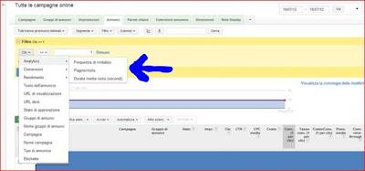 Novità Adword - Frequenza di Rimbalzo, Tempo Medio sul sito e Pagine-Visita