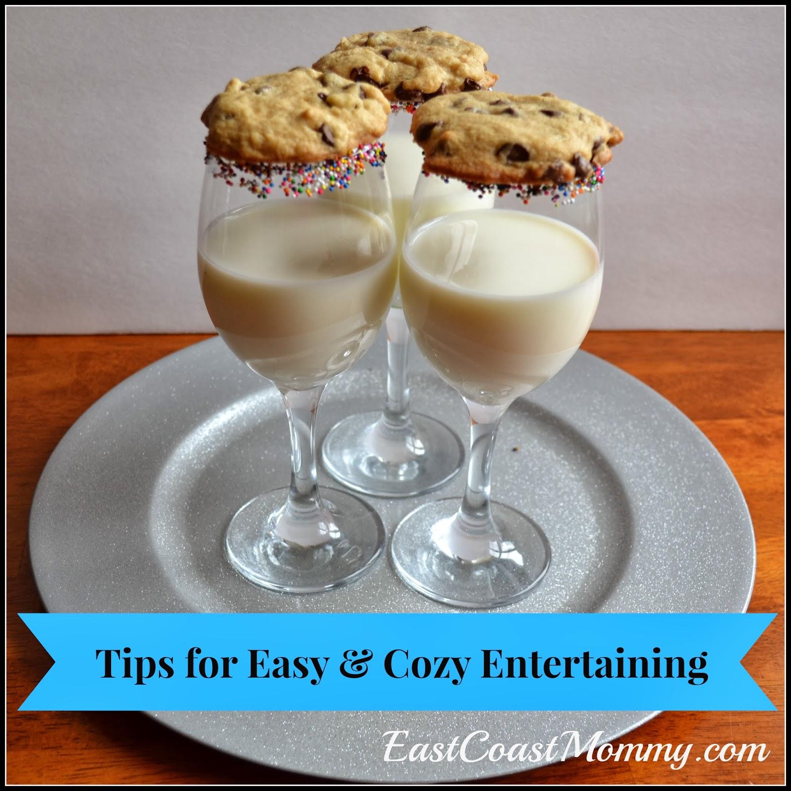 East coast mommy easy cozy entertaining for Easy entertaining tips