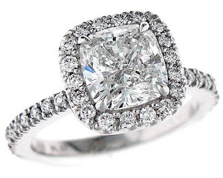 These types of cushion cut engagement rings settings are accessible in types of band colors.