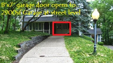 street level 2900 sf garage/shop/ could be more living space