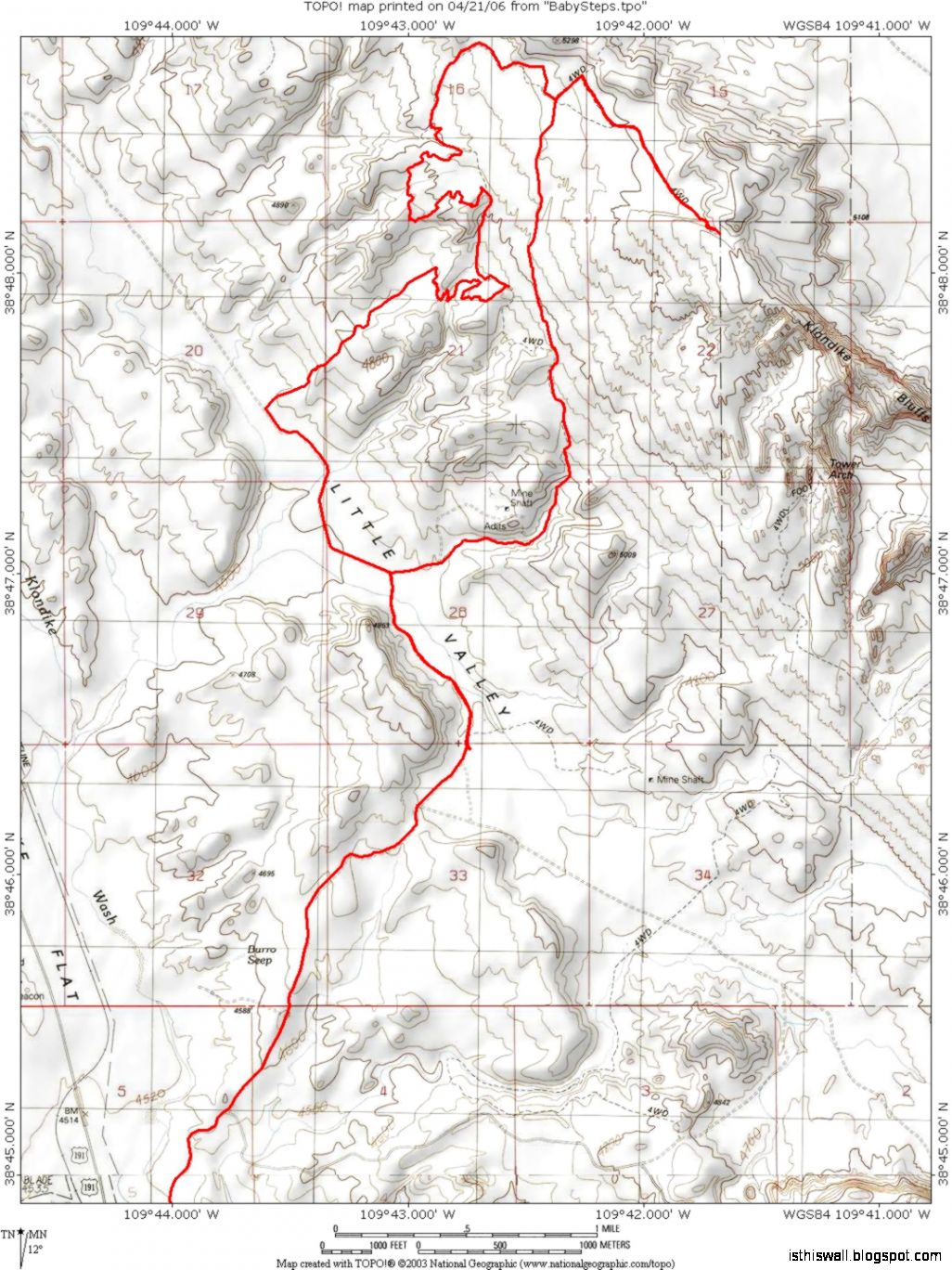 Klondike Trail Map