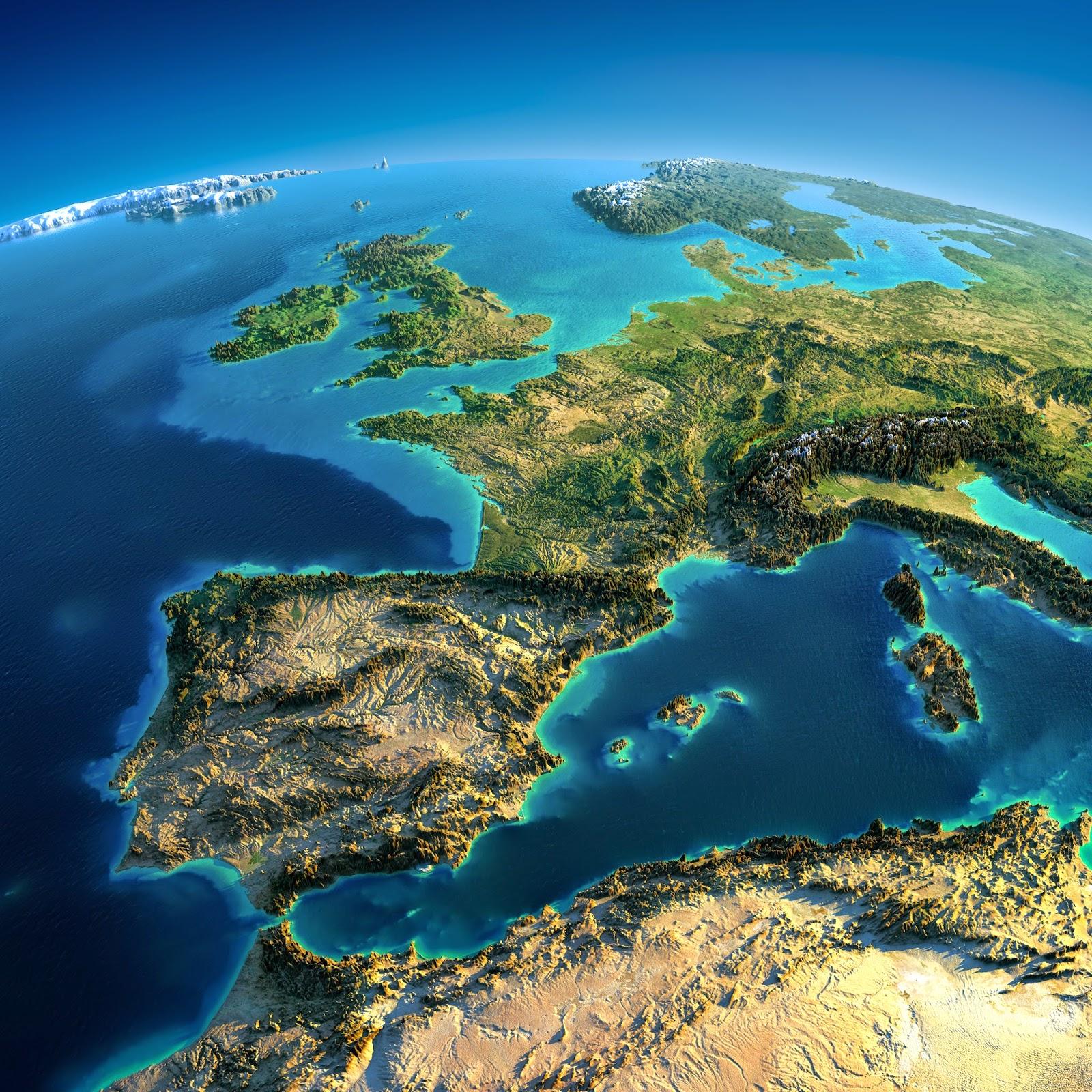Fascinantes mapas en relieve de la tierra cosas nicas - Fotos de relieve ...