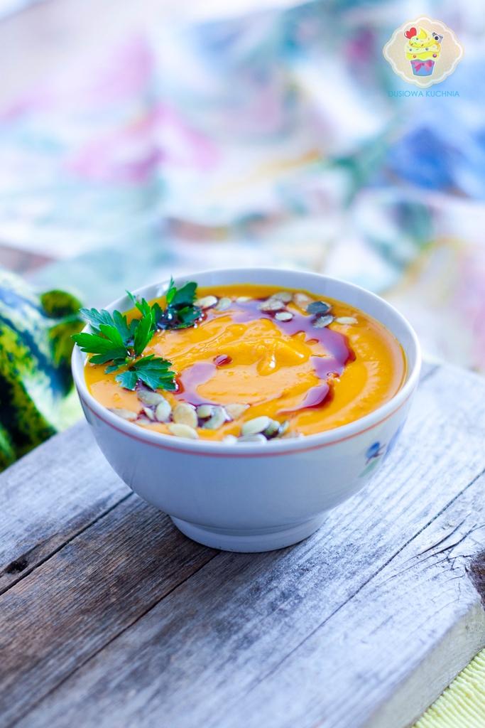 zupa krem z dyni, krem dyniowy, zupa z dyni, krem z dyni z mleczkiem kokosowym