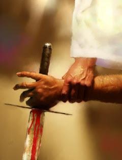 Jesus disarming Peter