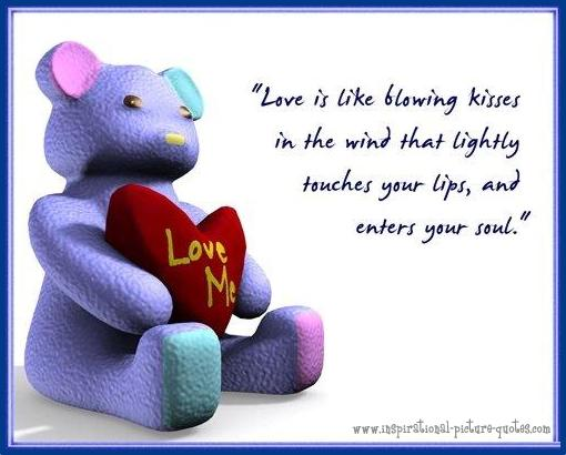 blowing kisses cute love quote inspirational picture quotes