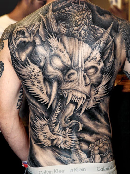 Men Back Tattoos