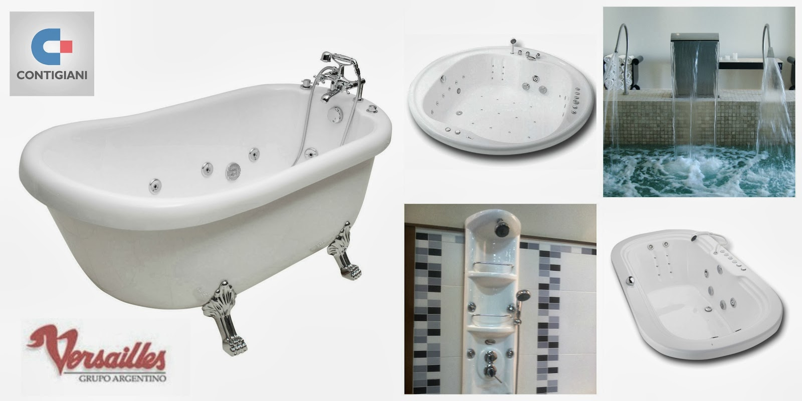 Baño Con Ducha Escocesa:CONTIGIANI: Sistemas de Spa e hidromasajes Versailles