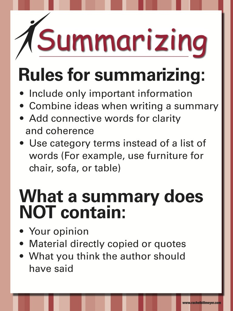 Paraphrasing and summarizing information