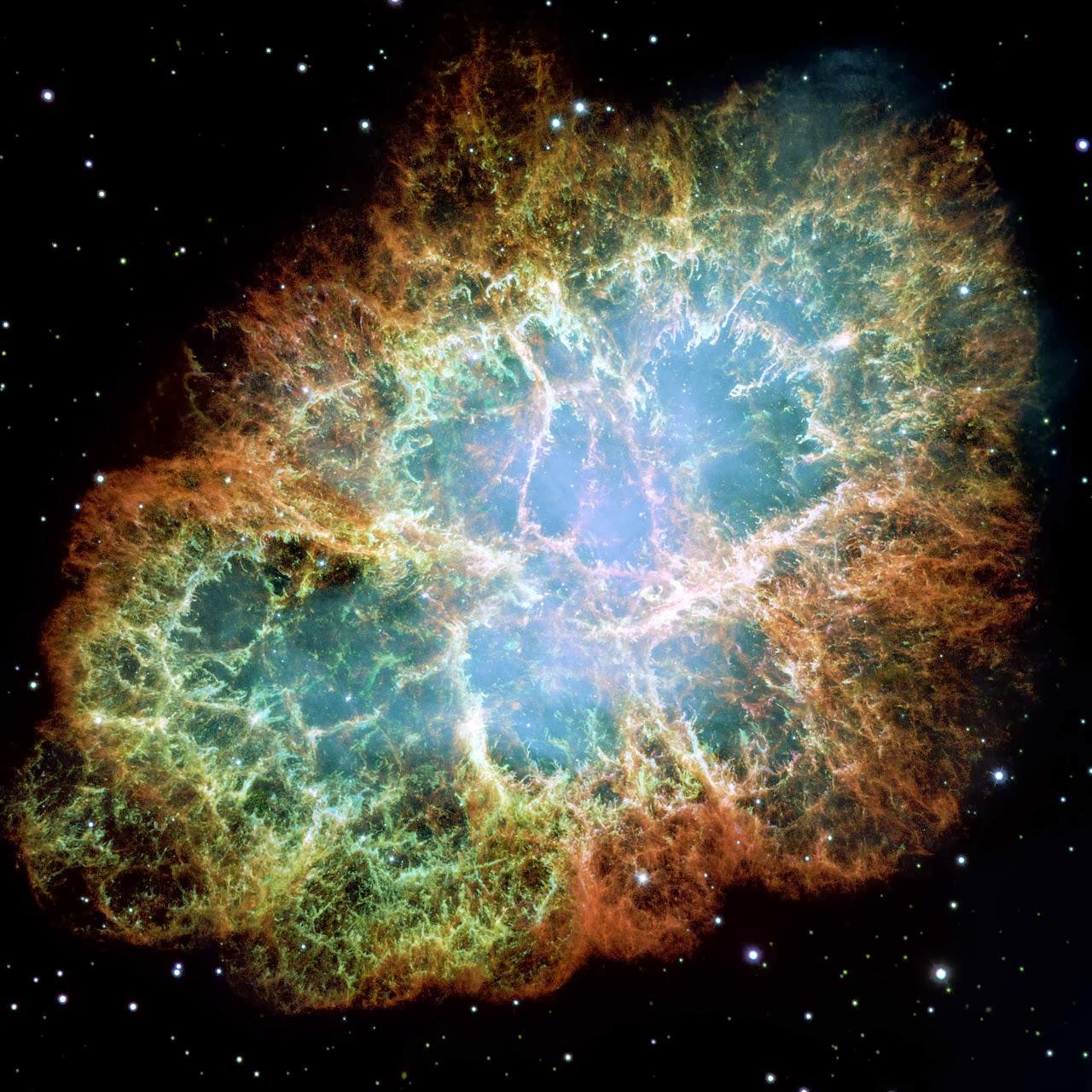 Крабовидная туманность (М1) — остаток взрыва сверхновой
