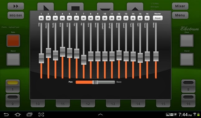 Electrum Drum Machine/Sampler android apk - Screenshoot