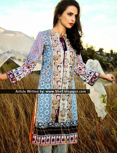 Pareesa Lawn Spring-Summer Collection 2015