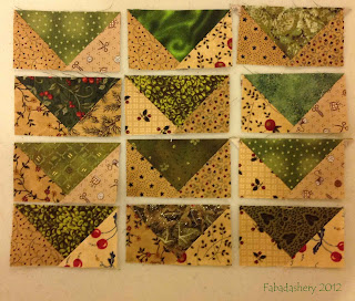 Bonnie Hunter's Mystery QUilt  Easy Street Part 2 Flying Geese Units
