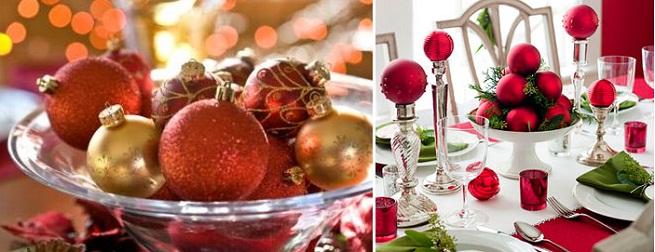 como decorar mesa en navidad